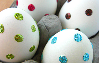 Sparkle polka dot Easter eggs by Domestifluff