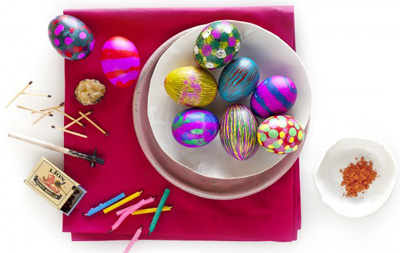 Ukranian Easter eggs by Fish Food Blog
