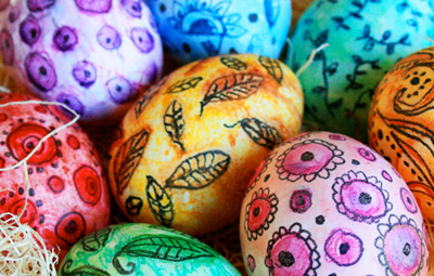 Watercolor Easter eggs by Alisa Burke
