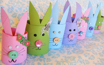 Easter DIY Bunny Family by My Little Gems