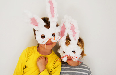 Easter DIY Bunny Masks by Babyccino Kids