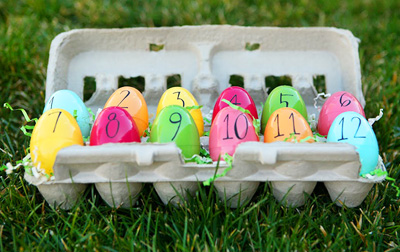 Easter DIY Egg Countdown by Eighteen25