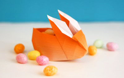 Easter origami bunnies by How About Orange