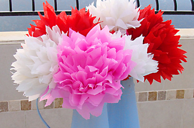 DIY Tissue Paper Flowers by Creative Jewish Mom