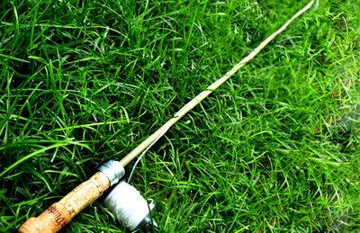 Homemade fishing pole by imagine Childhood