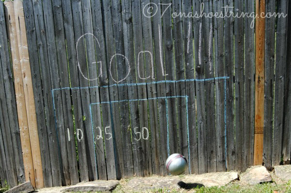 Outdoor Party Games for Kids Goal Post Fence