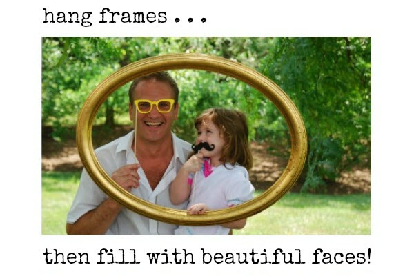 Outdoor Party Games for Kids Photo Booth Outside Frames