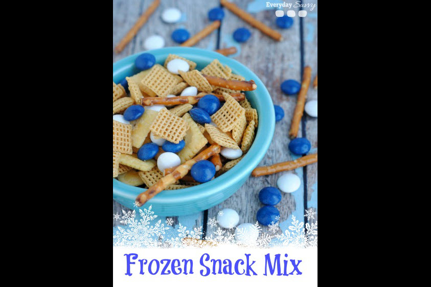 Frozen birthday party ideas sven snack mix