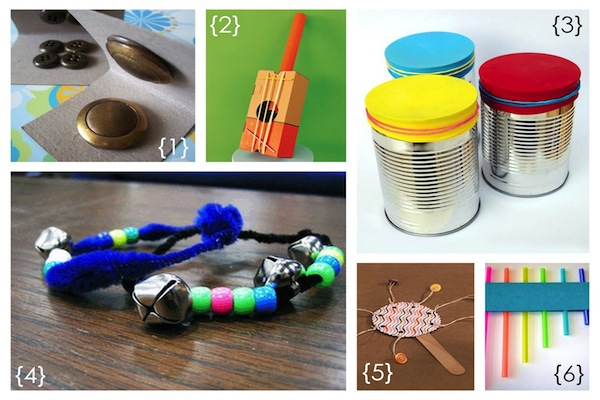 instruments for kids to make DIY prep for preschool