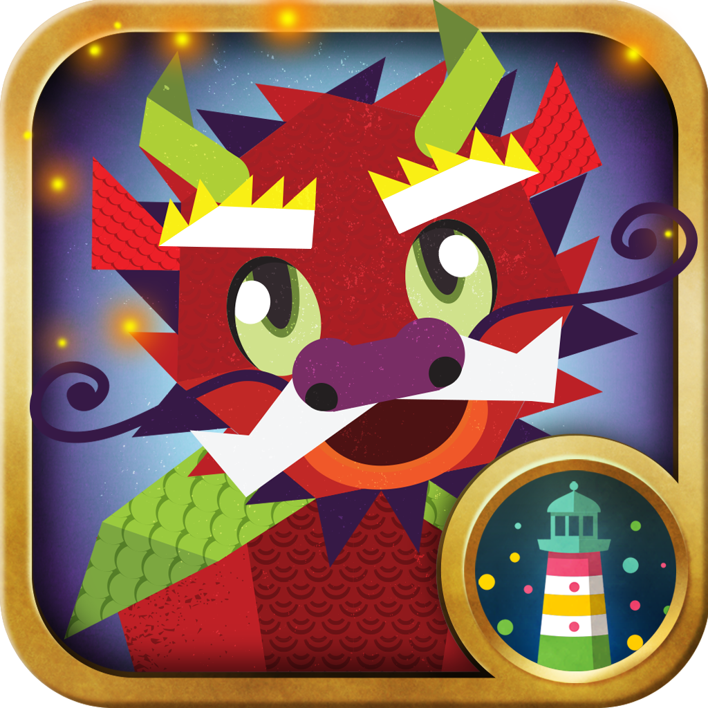Dragon shapes math apps for kids