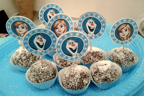 Frozen birthday party ideas cupcake toppers free printables