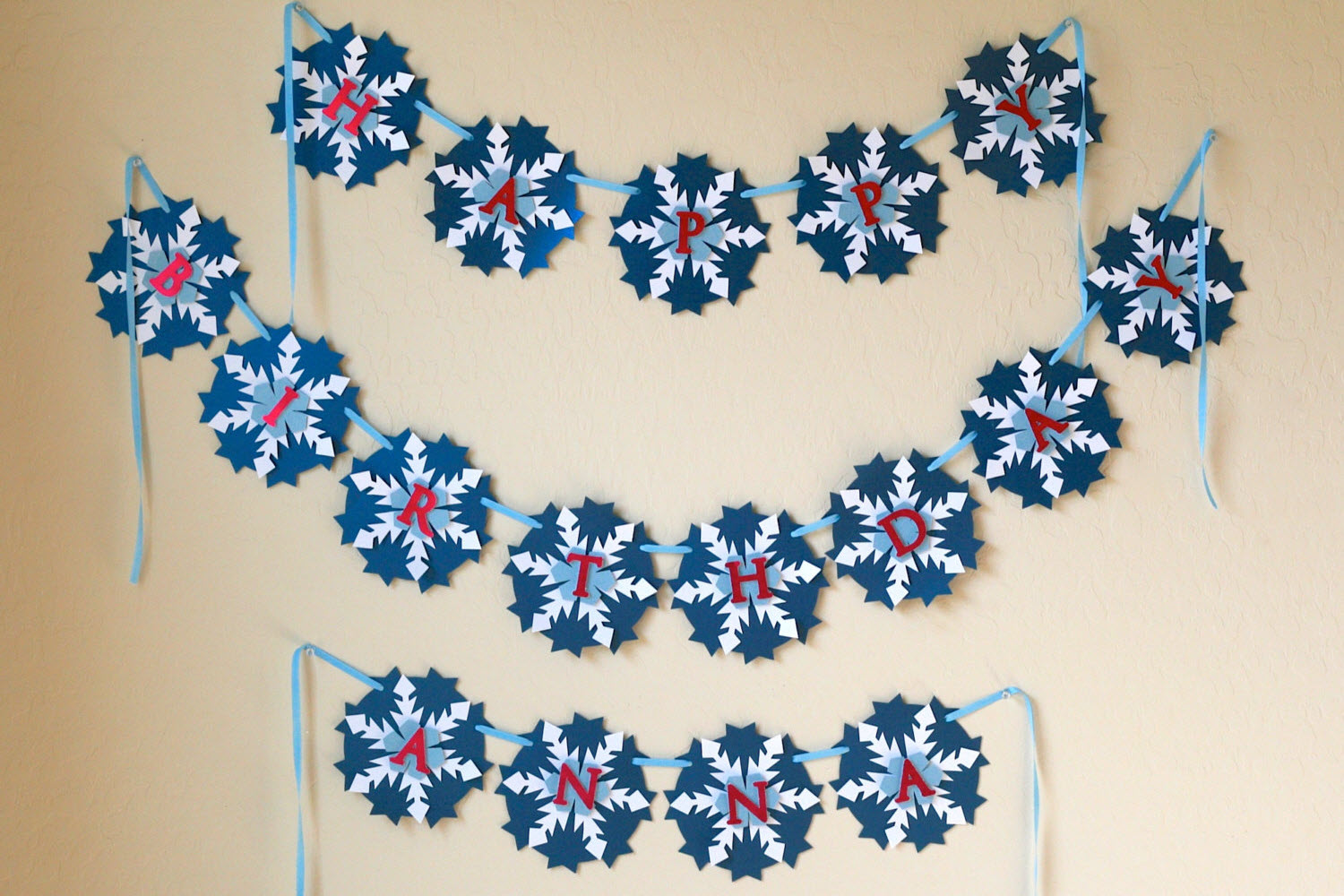 frozen birthday party ideas snowflake banner easy