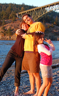 Camper Cain & the crew at Deception Pass