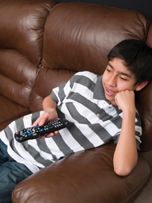 Getting teens to turn off the TV