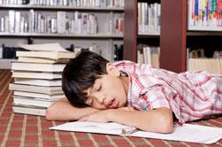 Asleep over homework