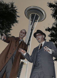 Zombies at the Space Needle!