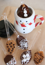 Chocolate covered spoons by Alphamom