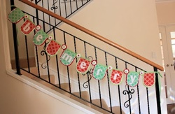 """Be Merry"" Christmas garland by A Spoonful of Sugar"