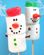 Marshmallow snowmen by The Decorated Cookie