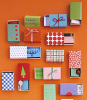 Matchbox gift boxes by Martha Stewart
