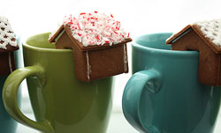 Mini gingerbread houses by Not Martha
