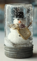 Homemade snow globe by One Spring Day