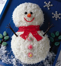 Snowman cake by Edible Crafts