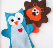 Eco-friendly hand puppets by Maria Palito on Etsy
