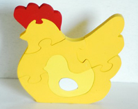 Chicken puzzle by Diva Poppins on Etsy