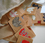 Eco-friendly matching memory game by Sarah Bain on Etsy