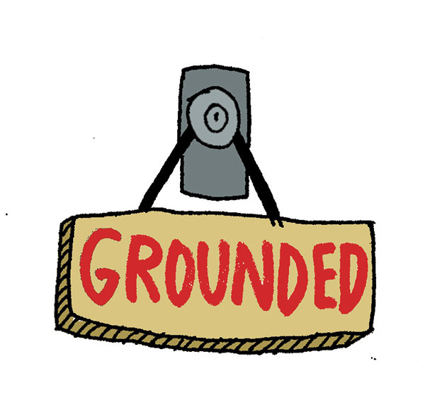 grounded sign by Allie Arnold Illustrations