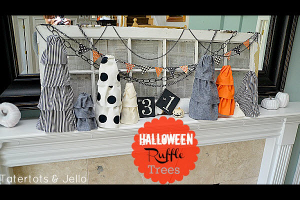 Halloween Decorations and Craft Ideas for Kids Ruffle Trees