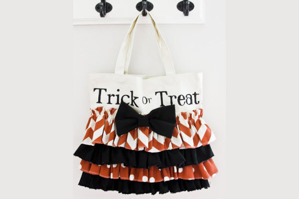 Halloween Decorations and Crafts for Kids Ruffle Trick or Treat Bag