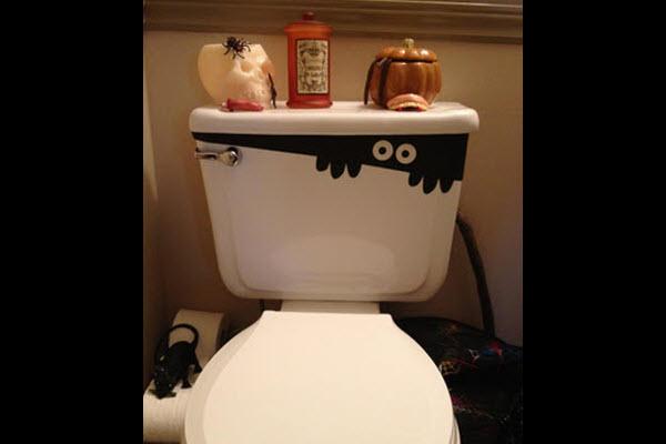 halloween decorations and crafts for kids scary bathroom toilet ghost - Halloween Bathroom Decorations