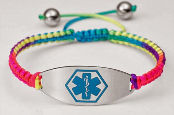 Macrame Medical Id Bracelet