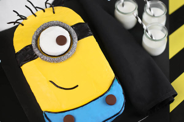 Birthday Party Ideas Despicable Me Minion Cake With