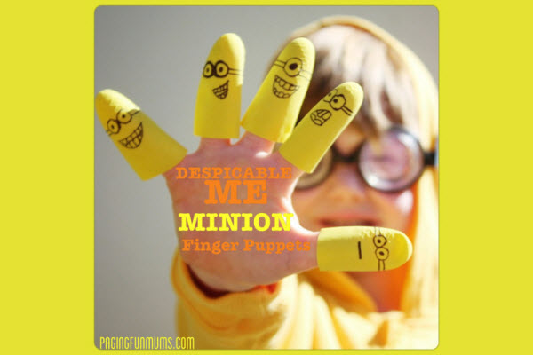 Birthday Party Ideas Despicable Me Minion Activities Finger Puppets
