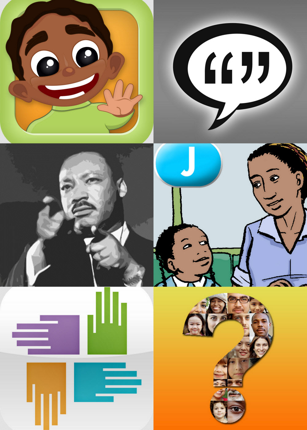 Uncategorized Martin Luther King Jr Cartoon Movie 7 apps for kids to learn about the civil rights movement and collage of martin luther king jr day