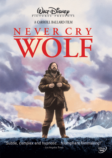 Never Cry Wolf DVD Documentary cover great nature movies for kids