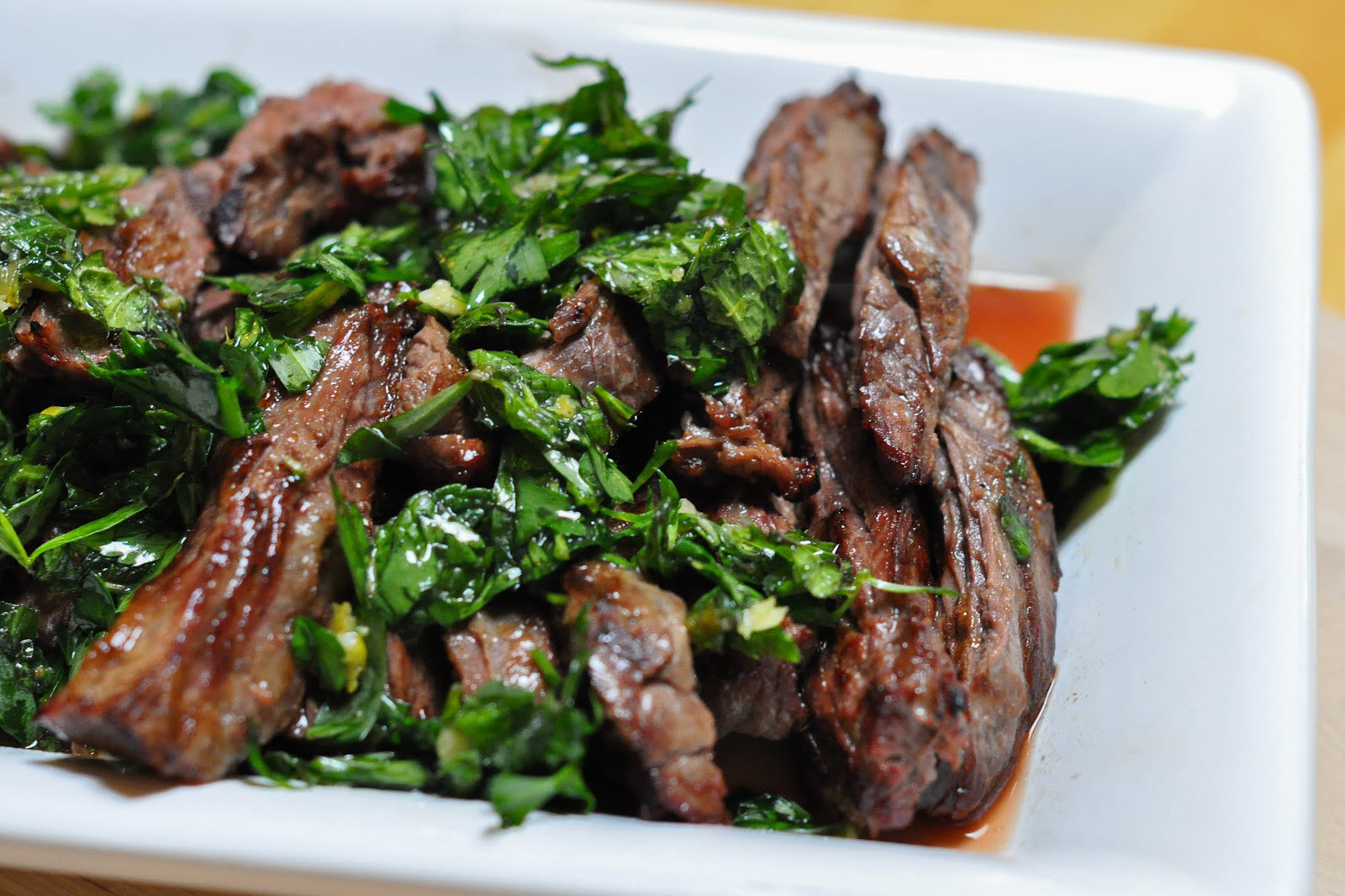 Grilled Skirt Steak with Herb Salsa Verde aphrodisiac foods for valentine's day