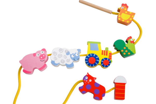 Farm animals on a string toy preschool prep