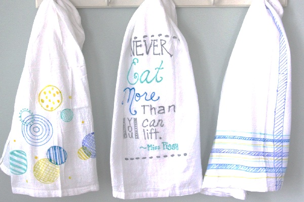 Teacher tea towels from The Lovely Cupboard