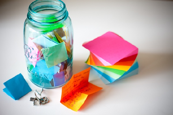 Class memory jar by Steamy Kitchen