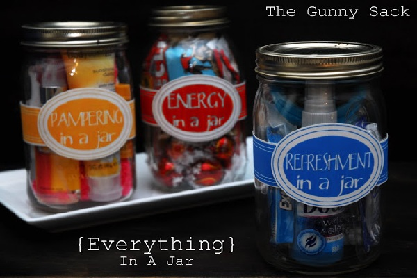 Pampering jars from The Gunny Sack