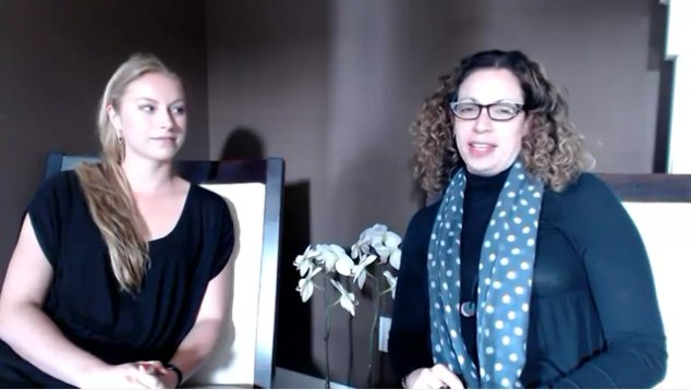 Interview Still: Rebecca Bloom and Natalie  Singer-Velush