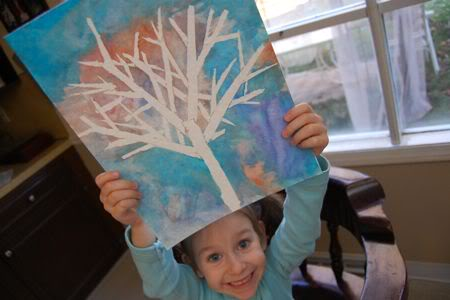 Winter Tree Art