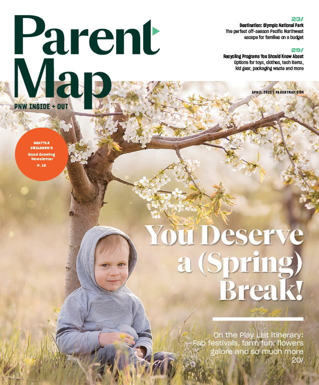 April 2021 ParentMap Magazine cover