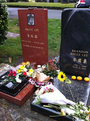 Gravesite for Bruce Lee and Brandon Lee