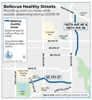 Bellevue Healthy Street map