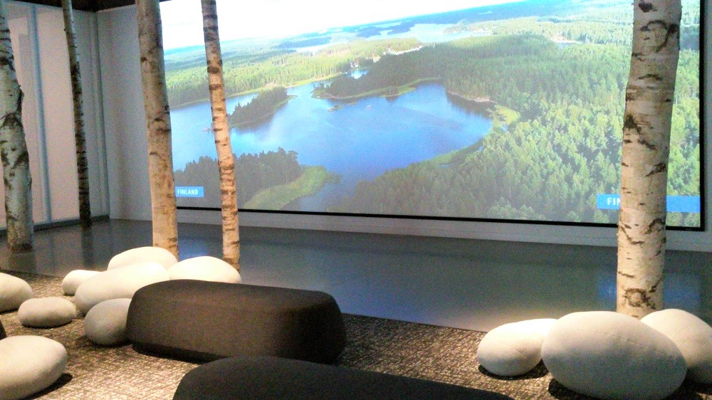 Birch lounge at new Nordic Museum
